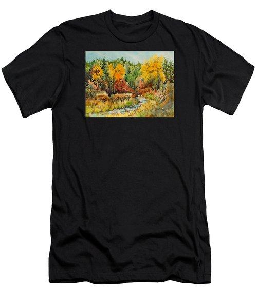 Latah Creek Fall Colors Men's T-Shirt (Athletic Fit)