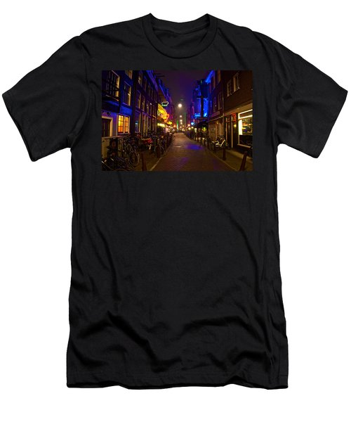 Late Night Neon  Men's T-Shirt (Slim Fit) by Jonah  Anderson