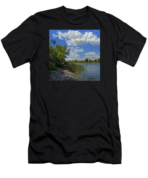 Late Summer On Lower Gar Men's T-Shirt (Athletic Fit)