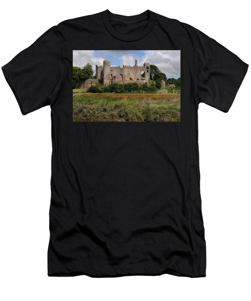 Laugharne Castle Men's T-Shirt (Athletic Fit)