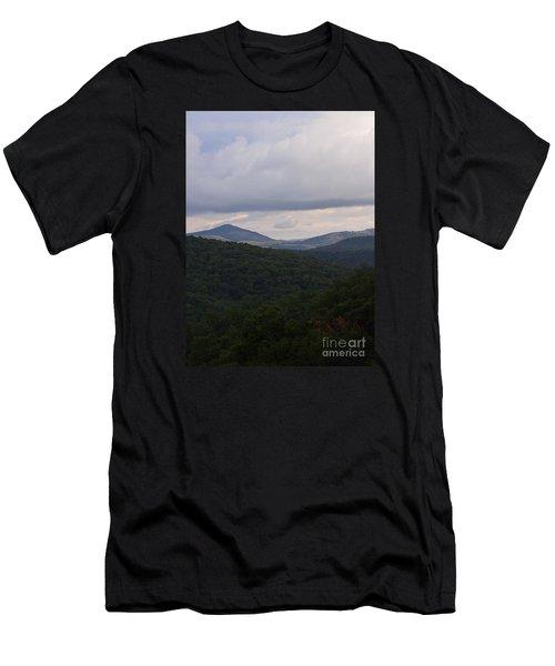 Laurel Fork Overlook 1 Men's T-Shirt (Slim Fit) by Randy Bodkins