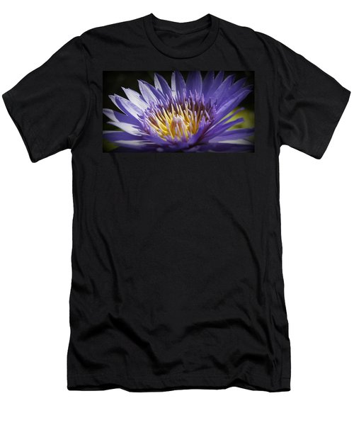 Men's T-Shirt (Slim Fit) featuring the photograph Lavendar Lily by Laurie Perry