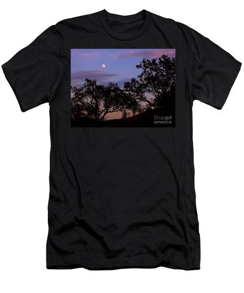Lavender Moon Twilight Men's T-Shirt (Slim Fit) by Gem S Visionary