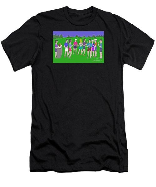 Lawn Party  Men's T-Shirt (Athletic Fit)