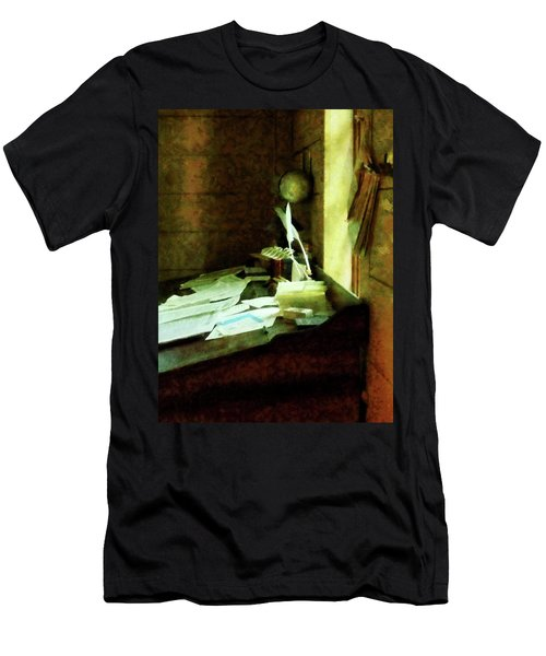 Lawyer - Desk With Quills And Papers Men's T-Shirt (Slim Fit) by Susan Savad