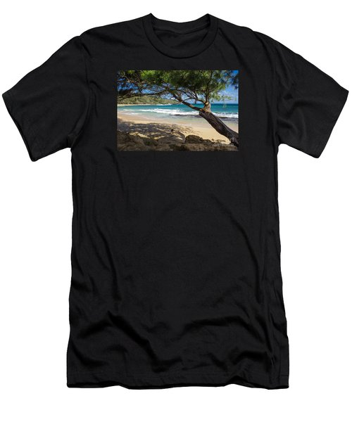 Men's T-Shirt (Slim Fit) featuring the photograph Lazy Day At The Beach by Suzanne Luft