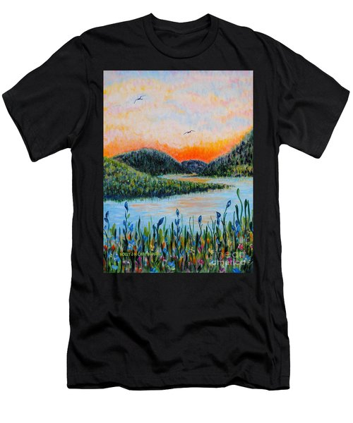 Lazy River Men's T-Shirt (Athletic Fit)