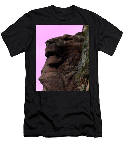 Men's T-Shirt (Slim Fit) featuring the photograph le Lion de Bartholdi by Marianne NANA Betts