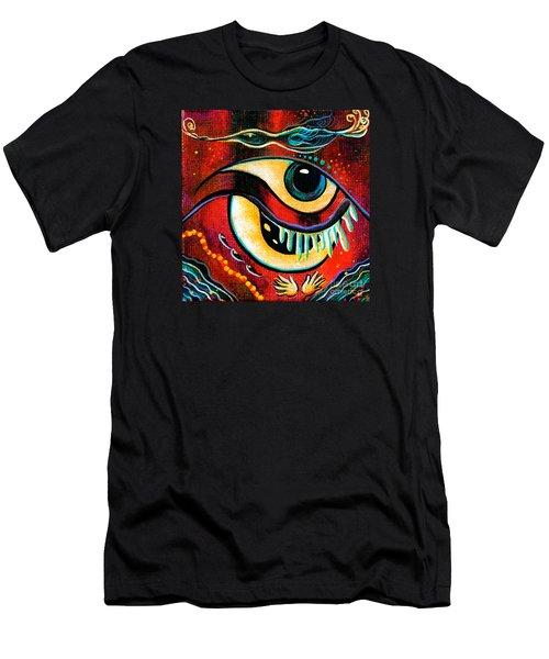 Men's T-Shirt (Slim Fit) featuring the painting Leadership Spirit Eye by Deborha Kerr