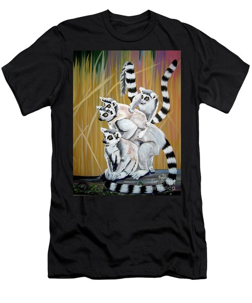 Leapin Lemurs Men's T-Shirt (Athletic Fit)