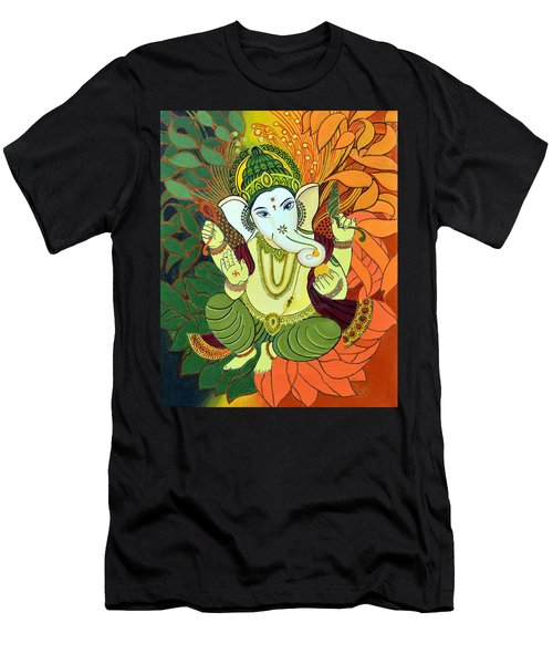 Leaves Ganesha Men's T-Shirt (Athletic Fit)