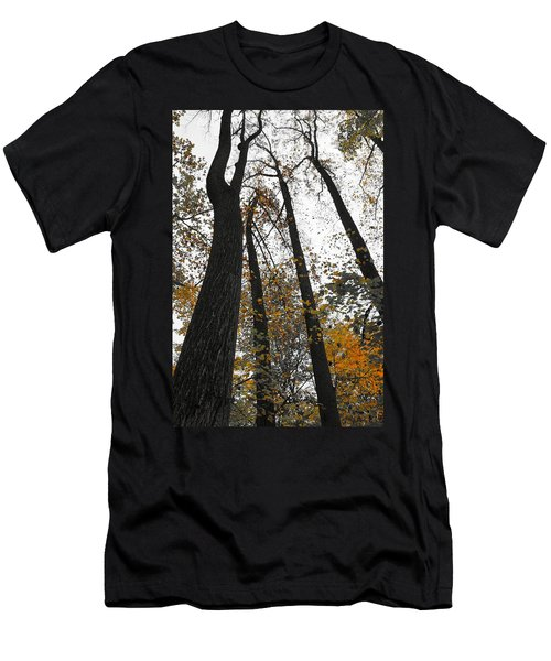 Men's T-Shirt (Slim Fit) featuring the photograph Leaves Lost by Photographic Arts And Design Studio