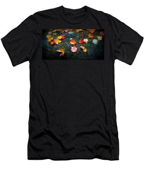 Leaves On Rock  Men's T-Shirt (Athletic Fit)