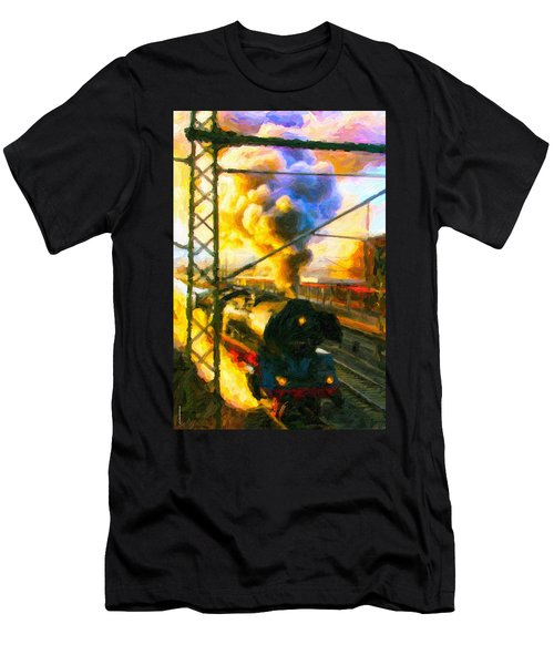 Leaving The Station Men's T-Shirt (Athletic Fit)