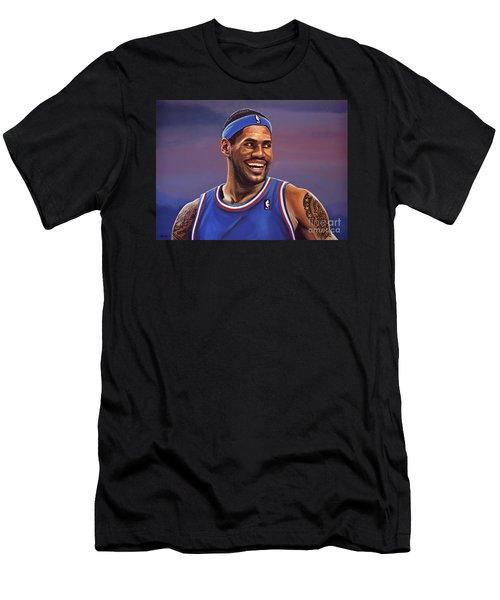 Lebron James  Men's T-Shirt (Slim Fit) by Paul Meijering