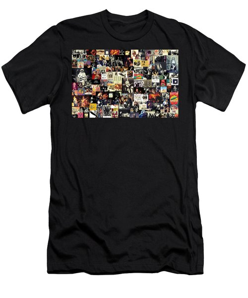Led Zeppelin Collage Men's T-Shirt (Slim Fit) by Taylan Apukovska