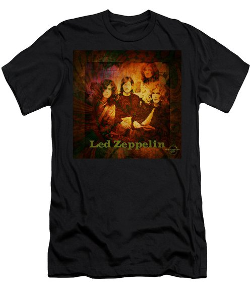Led Zeppelin - Kashmir Men's T-Shirt (Slim Fit) by Absinthe Art By Michelle LeAnn Scott