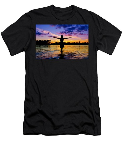 Legend Men's T-Shirt (Slim Fit) by Laura Fasulo