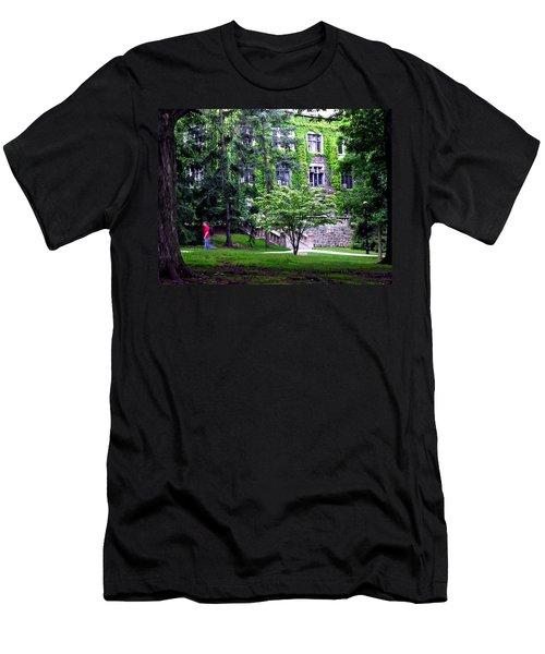 Men's T-Shirt (Slim Fit) featuring the photograph Lehigh University Campus by Jacqueline M Lewis