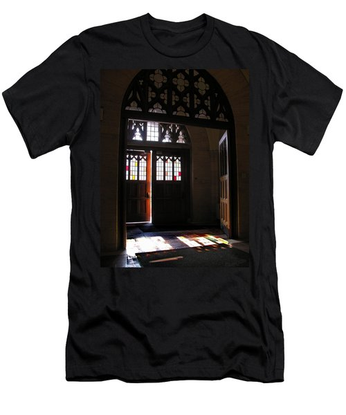 Lehigh University Linderman Library Entrance Men's T-Shirt (Athletic Fit)