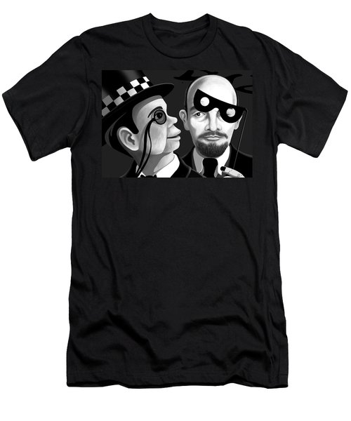 Men's T-Shirt (Slim Fit) featuring the digital art Lenin And Mccarthy   by Tom Dickson