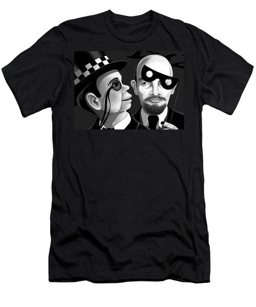 Lenin And Mccarthy   Men's T-Shirt (Slim Fit) by Tom Dickson