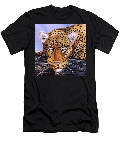 Leopard In A Tree Men's T-Shirt (Athletic Fit)