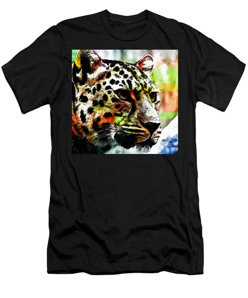 Leopard - Leopardo Men's T-Shirt (Slim Fit) by Zedi