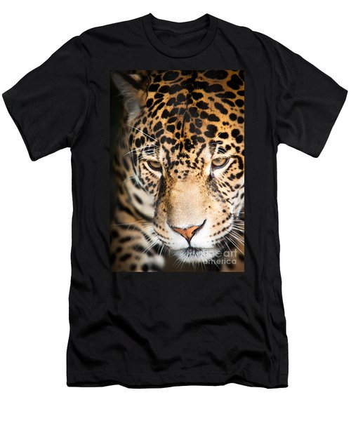 Men's T-Shirt (Athletic Fit) featuring the photograph Leopard Resting by John Wadleigh