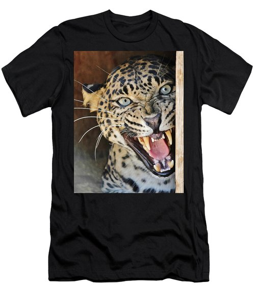 Leopard Snarling Men's T-Shirt (Athletic Fit)