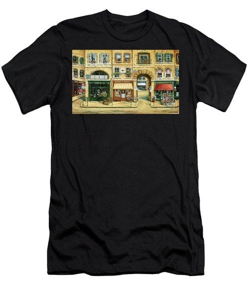 Les Rues De Paris Men's T-Shirt (Athletic Fit)