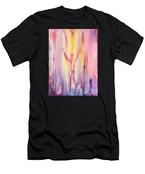 Men's T-Shirt (Athletic Fit) featuring the painting Let It Flow by Nancy Cupp