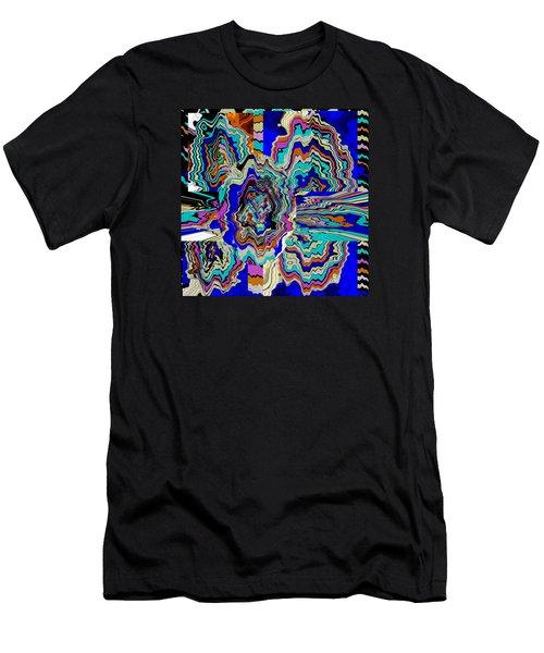 Original Abstract Art Painting Let Life Bloom Men's T-Shirt (Slim Fit) by RjFxx at beautifullart com