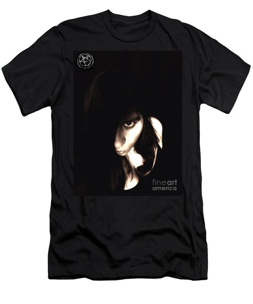 Men's T-Shirt (Slim Fit) featuring the photograph Let The Darkness Take Me by Vicki Spindler
