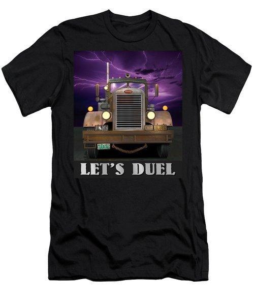 Let's Duel Men's T-Shirt (Slim Fit) by Stuart Swartz