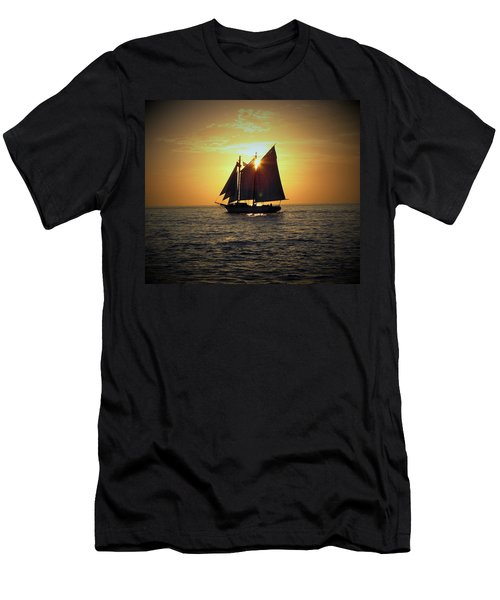 A Key West Sail At Sunset Men's T-Shirt (Athletic Fit)