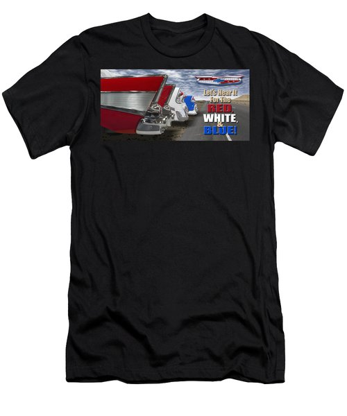Lets Hear It For The Red White And Blue Men's T-Shirt (Athletic Fit)