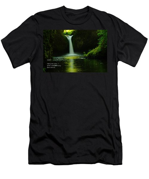 Letting The Calm Men's T-Shirt (Athletic Fit)