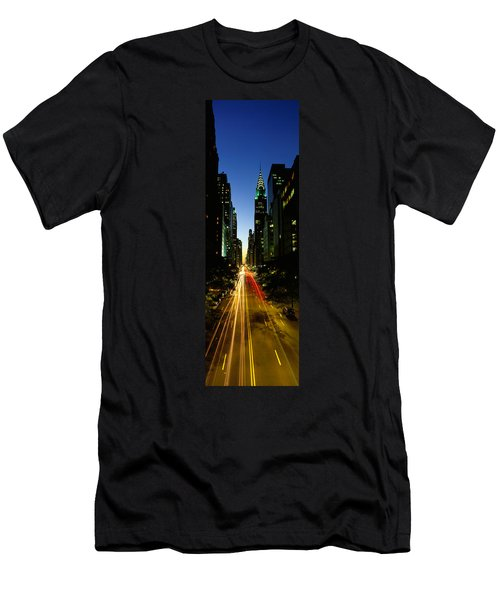 Lexington Avenue, Cityscape, Nyc, New Men's T-Shirt (Slim Fit) by Panoramic Images