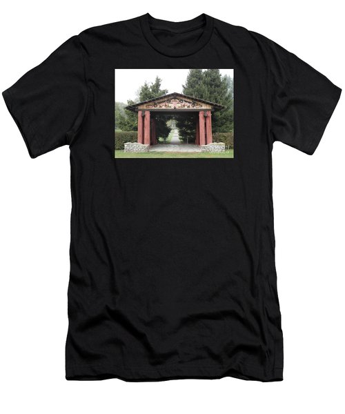Lheit-li Nation Burial Grounds Entrance Men's T-Shirt (Athletic Fit)