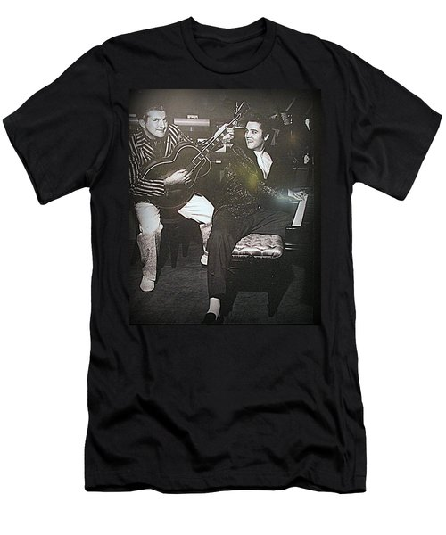 Liberace And Elvis Men's T-Shirt (Athletic Fit)