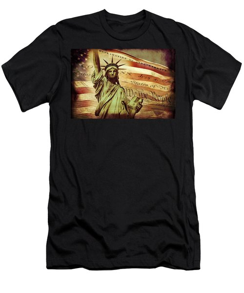 Declaration Of Independence Men's T-Shirt (Athletic Fit)