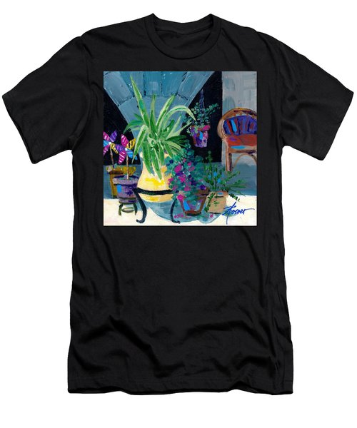 Library Courtyard-rhodes Old Town Men's T-Shirt (Athletic Fit)
