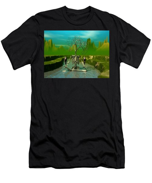 Life Death And The River Of Time Men's T-Shirt (Athletic Fit)