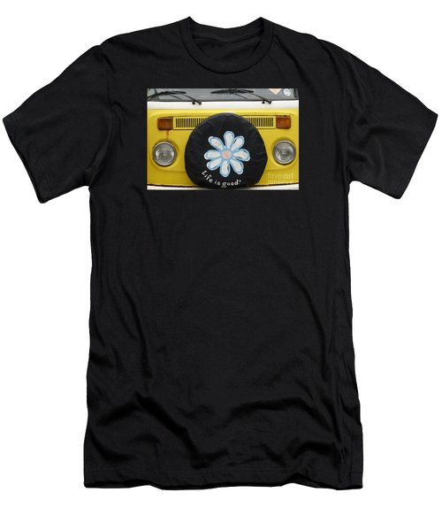 Life Is Good With Vw Men's T-Shirt (Slim Fit) by Wendy Wilton