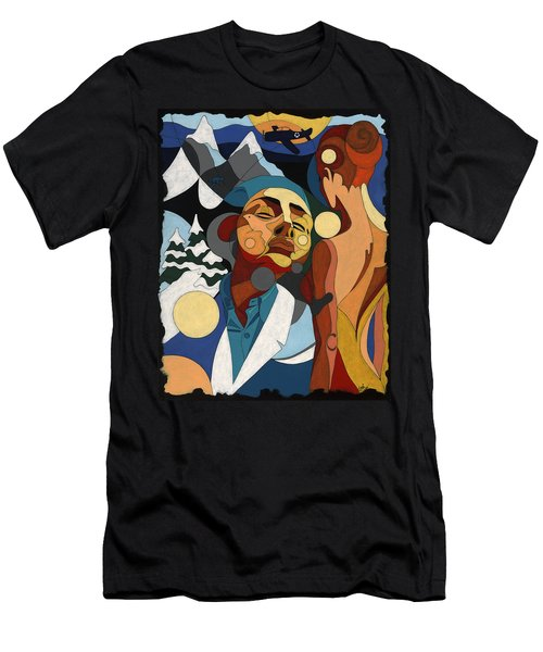 Life Of Roy Painting With Hidden Pictures Men's T-Shirt (Athletic Fit)