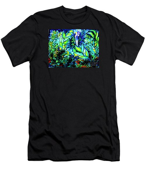 Men's T-Shirt (Slim Fit) featuring the painting Life Without Filters by Hazel Holland