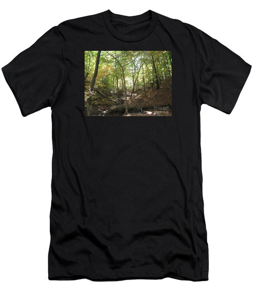 Light And Shadow Through The Forest Men's T-Shirt (Athletic Fit)