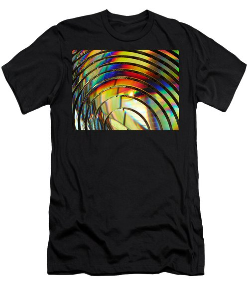 Light Color 2 Prism Rainbow Glass Abstract By Jan Marvin Studios Men's T-Shirt (Athletic Fit)