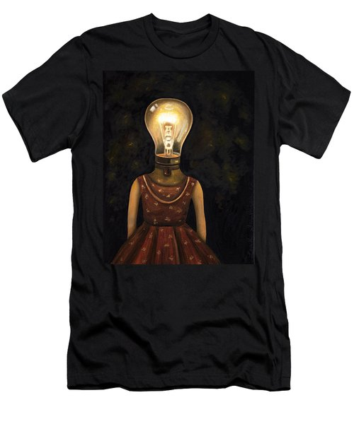 Light Headed Men's T-Shirt (Slim Fit) by Leah Saulnier The Painting Maniac